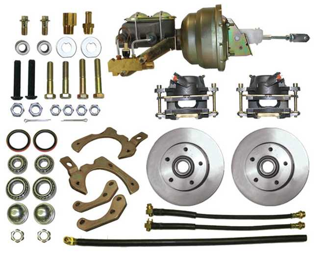 Disc Brake Kit: 55-58 Chevy Stock Height Kit