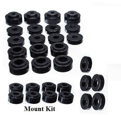 Body Mount Kit: 68-72 Chevelle, Cutlass & Skylark Coupe/Sedan w/