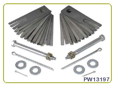 Shim Kit: 68-82 Corvette Rear
