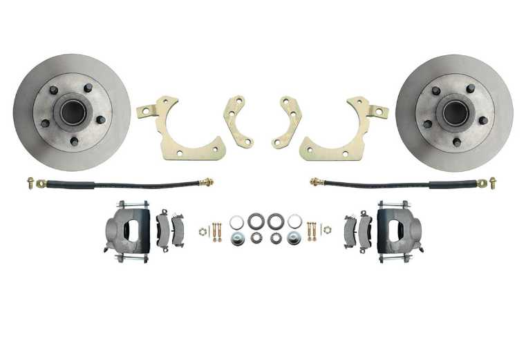 Disc Brake Kit: 55-58 Wheel Only FRONT Set