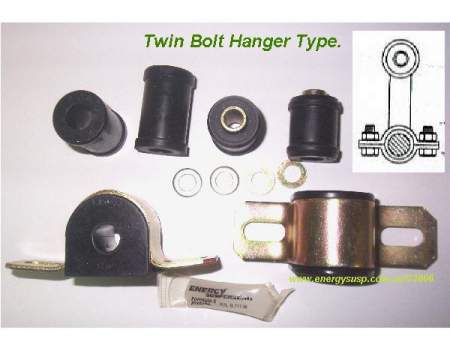 Rear Sway Bar Bushing Kit: 70-81F (Twin side bolt)