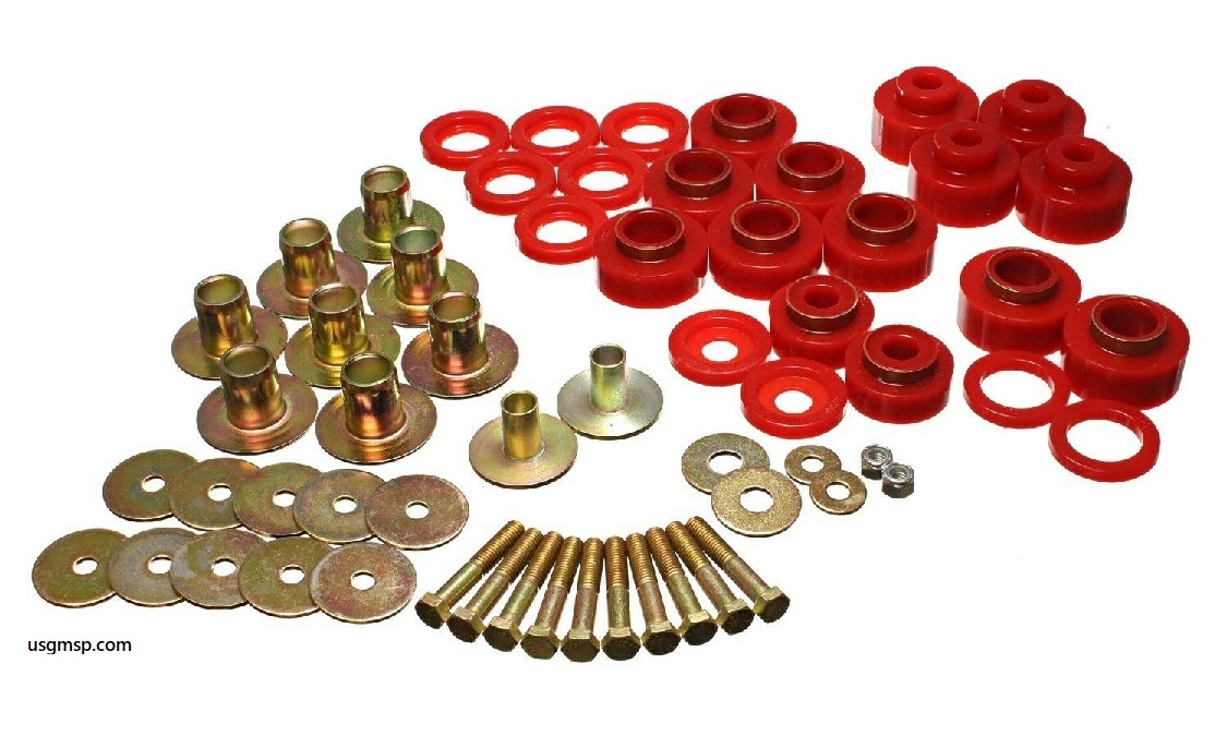 Body Mount kit: 68-72 Chevelle, Cutlass, Skylark W/Hardware Kit